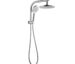 Shower rail with overhead shower