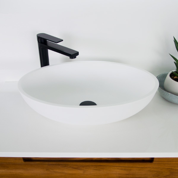 Basin Bench Mount, Cleo Solid Surface