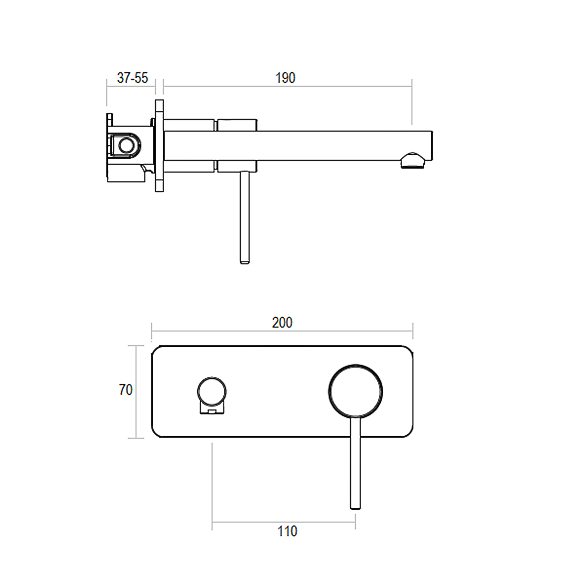 Wall mixer combination eclipse product spec