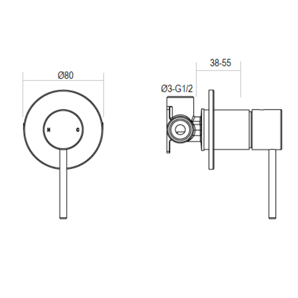 Wall mixer eclipse product specification