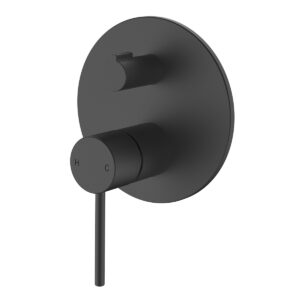 Wall mixer with diverter matte black eclipse