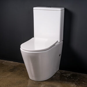Close coupled toilet suite, toilet, close coupled, rimless, Vega