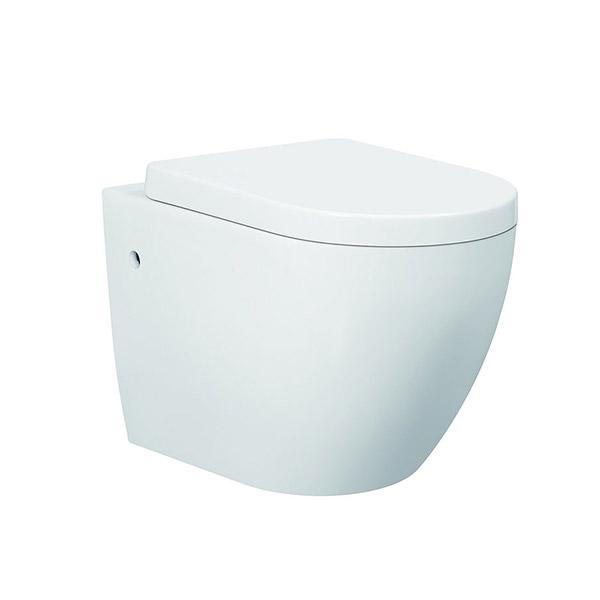 wall hung toilet pan, toilet pan, wall hung, rimless, p-trap, Icarus