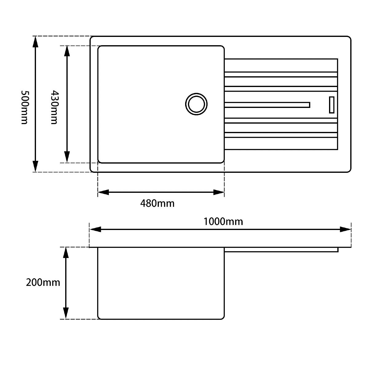 Arete Granite Kitchen Sink Product Specification