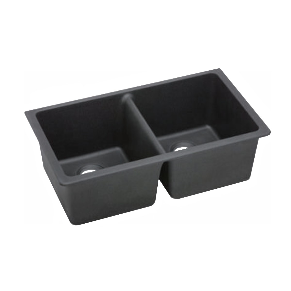 Granite Kitchen Sink Black Double Bowl