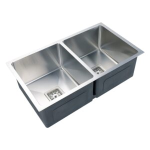 Kitchen Sink Brushed Stainless Steel Double Bowl