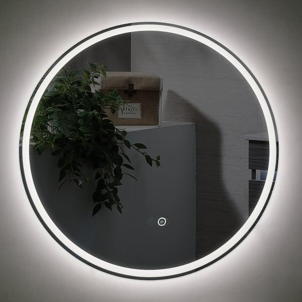 Bathroom LED Mirror Sphere 800 with demister