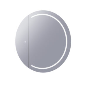 LED mirror cabinet with demister stock image