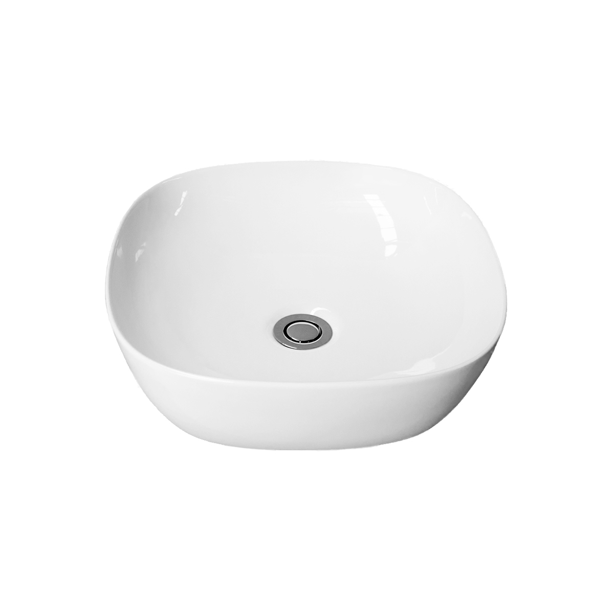 Marley white ceramic Bench Mount basin square with round edges
