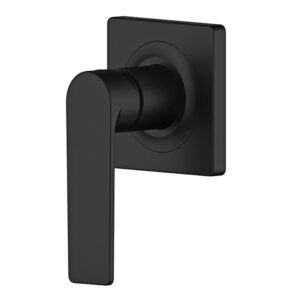 Oberon Matte Black Bathroom Wall Mixer by Schalke OB104BL