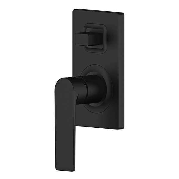 Wall mixer with diverter Matte Black Oberon