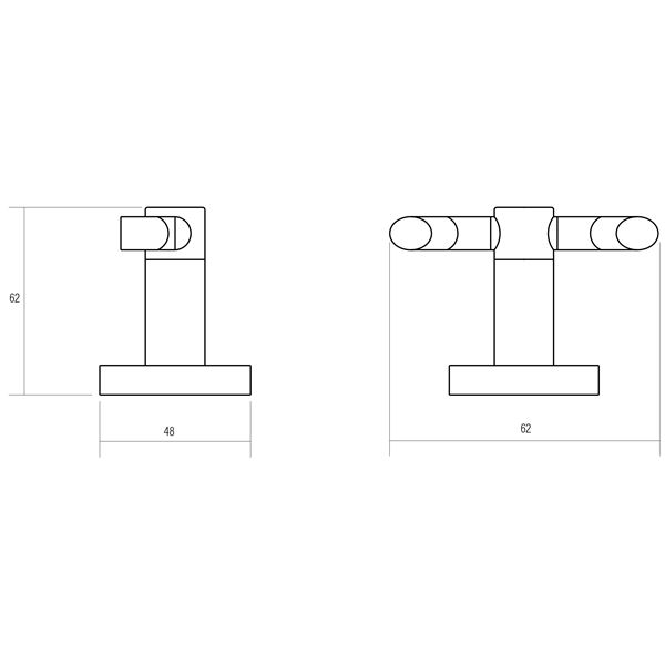 Oberon polished chrome plated brass robe hook product specification