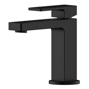 Portia Matte Black Bathroom Basin Mixer by Schalke PO101BL