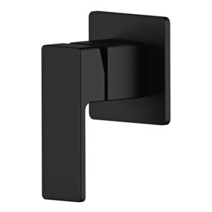 Portia Matte Black Bathroom Wall Mixer by Schalke PO104BL