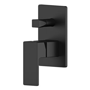 Wall mixer with diverter Matte Black Portia