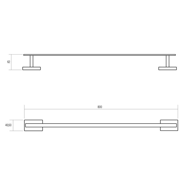 single towel rail, portia, product specification