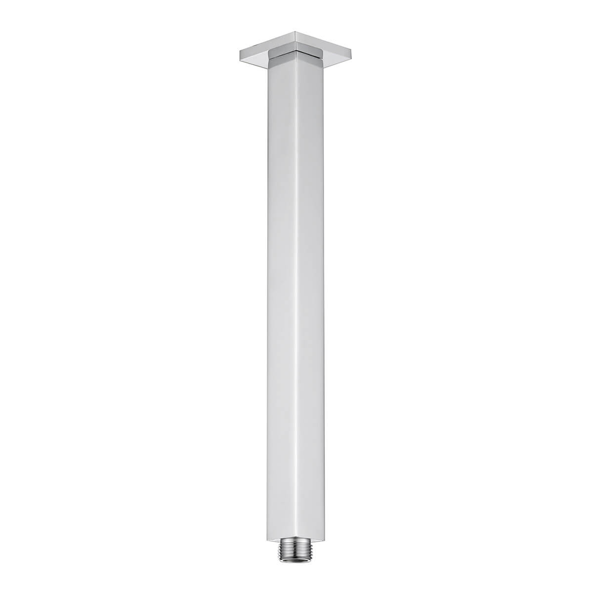 ceiling arm polished chrome square