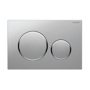 Geberit Sigma20 Round Button Flush Plate Satin Chrome