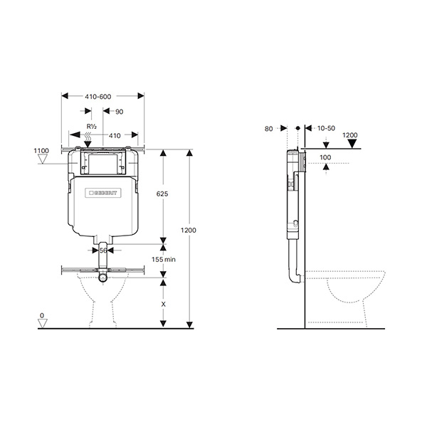 Geberit Sigma8 Concealed Cistern Product Specifications