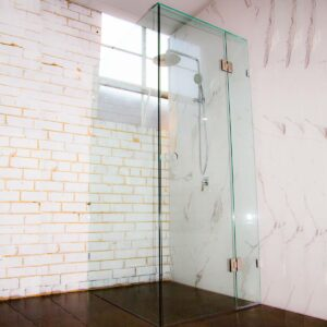shower hinged panels, frameless shower glass, Shower enclosure, Shower safety glass, Toughened safety glass