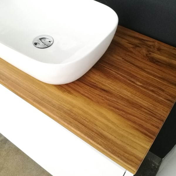 Fifth Avenue Bathroom Furniture Teak Solid Timber Benchtop with Basin