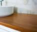 Teak Solid Timber Benchtop with Basin