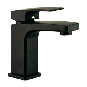 Vega Matte Black Bathroom Basin Mixer by Schalke VE101BL