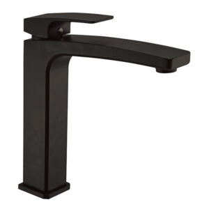 Vega Matte Black Swivel Tall Basin Mixer by Schalke VE102BL