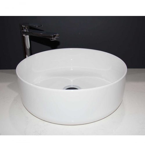 bench mount ceramic basin , bench mount basin, Basin, bench mount, fine line, thin line, slim line, ceramic, round, circle, circular, Icarus