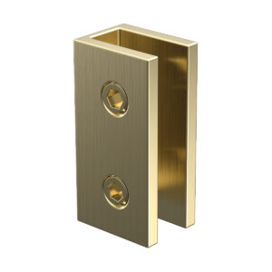 Brushed Gold Purity Shower Glass Bracket