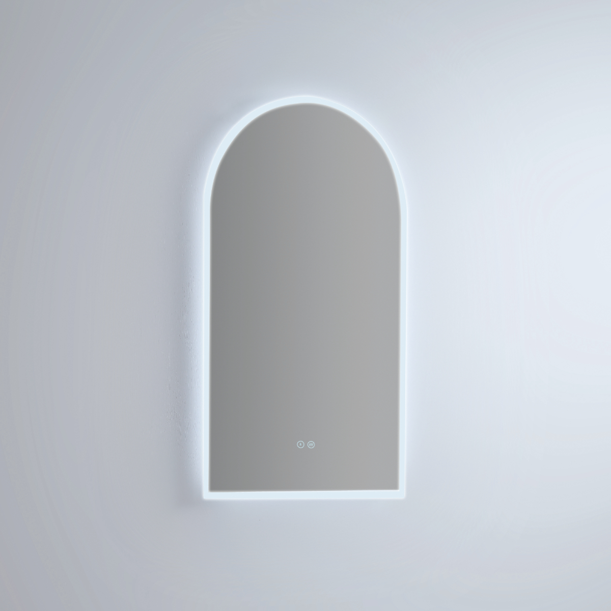Led Arch Mirror Stock Image