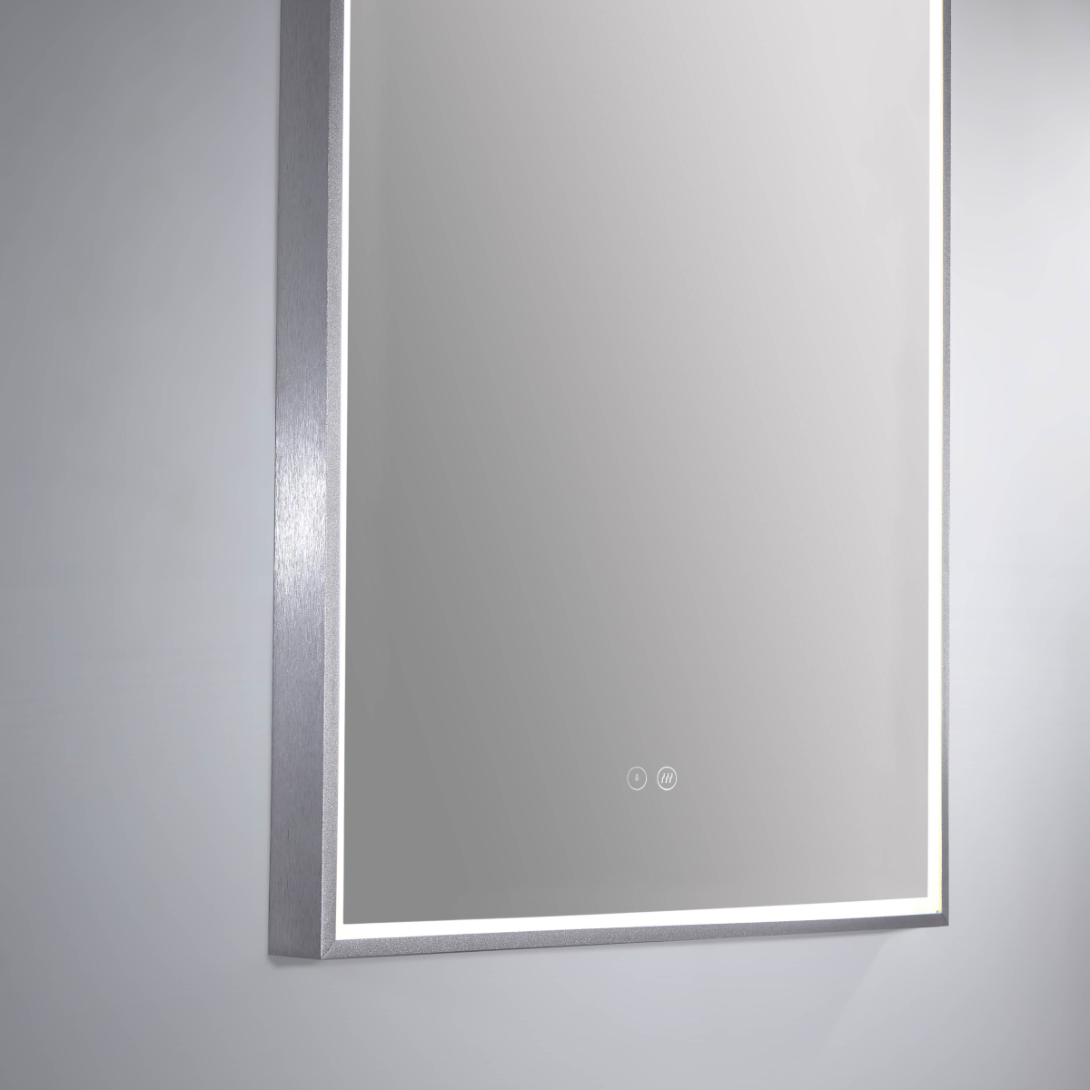 Led Arch Mirror W Brushed Nickel Frame
