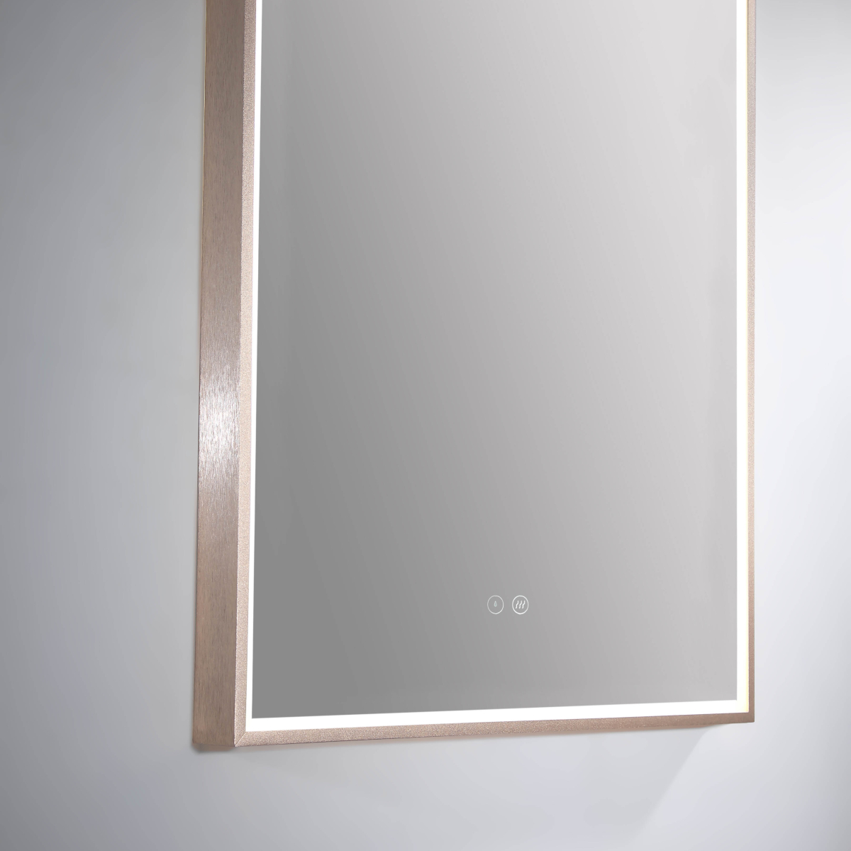 Led Arch Mirror W Rose Gold Frame