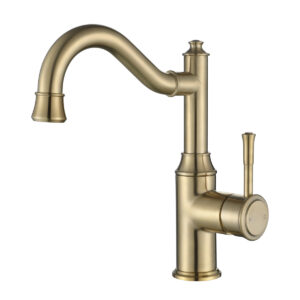 Montpellier Traditional Tall Basin Mixer Brushed Brass