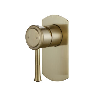 Montpellier Traditional Wall Mixer Brushed Brass