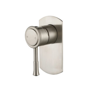 Montpellier Traditional Wall Mixer Brushed Nickel