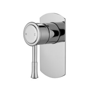 Montpellier Traditional Wall Mixer Polished Chrome