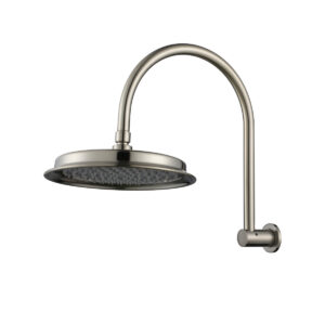 Montpellier Traditional Shower Arm Brushed Nickel& Head