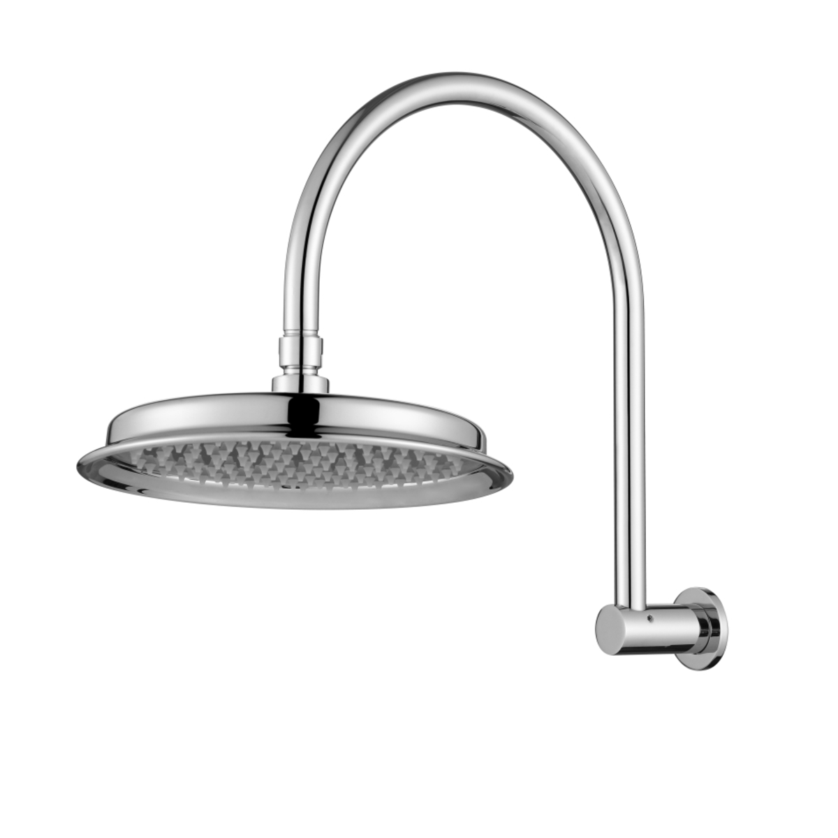 Montpellier Traditional Shower Arm & Head Polished Chrome