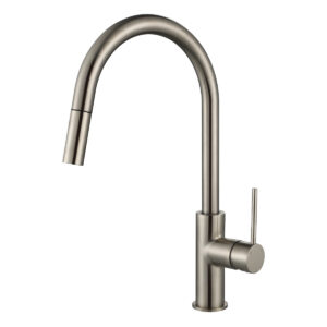Star Mini Swivel Kitchen Mixer w Pull Out Spray Brushed Nickel
