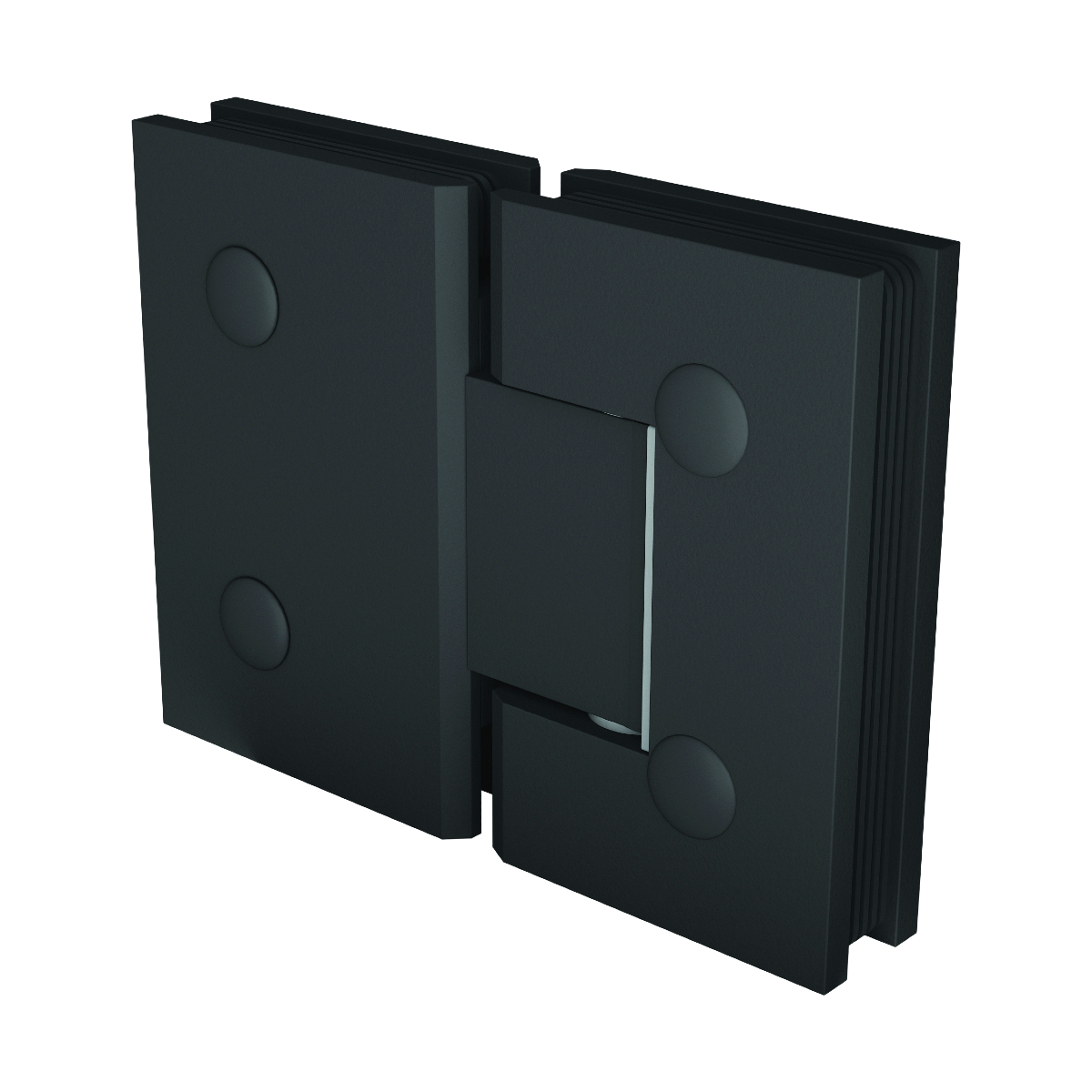 Matte Black Purity Glass to Glass Shower Hinge