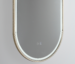 LED Great Gatsby Mirror W Brushed Brass Frame