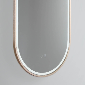 LED Great Gatsby Mirror W Rose Gold Frame